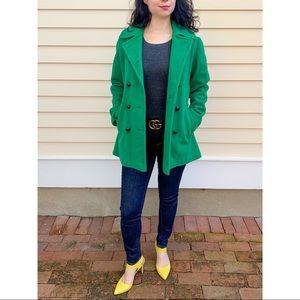 Mackintosh 100% Wool Green Peacoat
